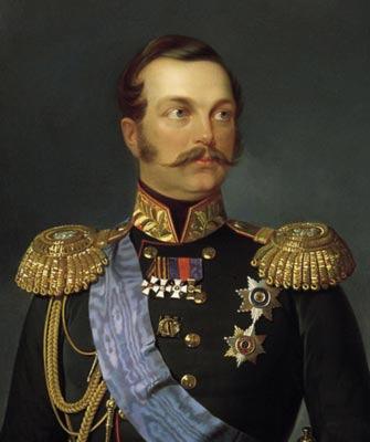 Егор Ботман. Портрет Александра II. 1856. (Фрагмент)