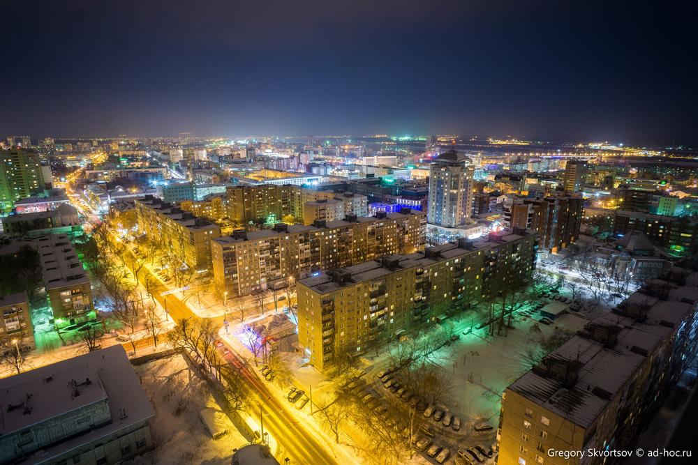 Ночью Пермь преображается.