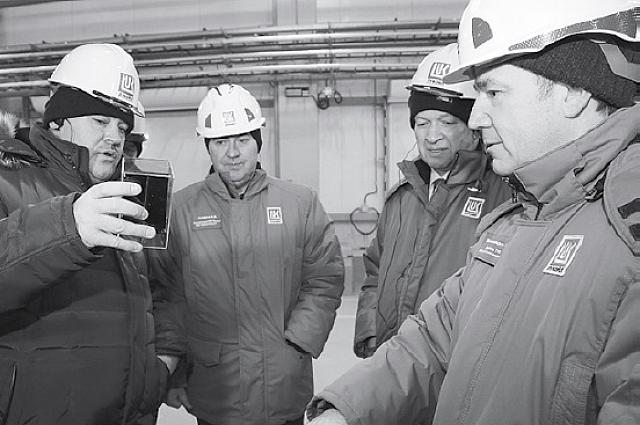 Сергей Гапликов с рабочим визитом на Баяндыском месторождении.