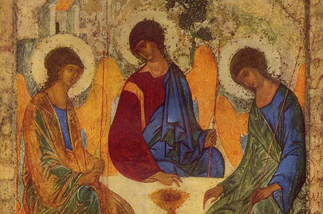 Троица. Фрагмент иконы Андрея Рублёва
