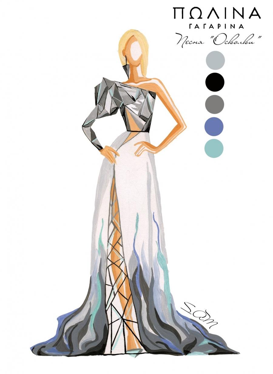 Модель платья, которая принесла Анастасии победу.