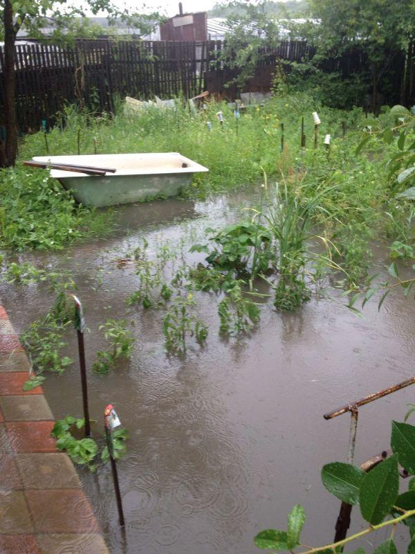 Знаменитый потоп 5 июля этого года: смыло огороды и дороги на Мостовой.