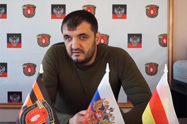 Руководитель добровольческого батальона «Пятнашка» Олег Мамиев с позывным Мамай
