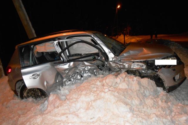 Пассажирка Volkswagen умерла в районной больнице.