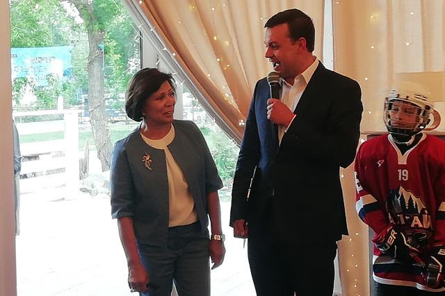 Ирина Роднина в Барнауле