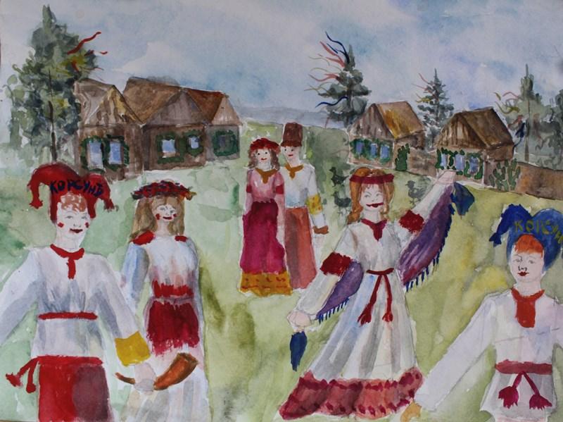 Все боляны на одной поляне. Рисунок Даши Филиной.