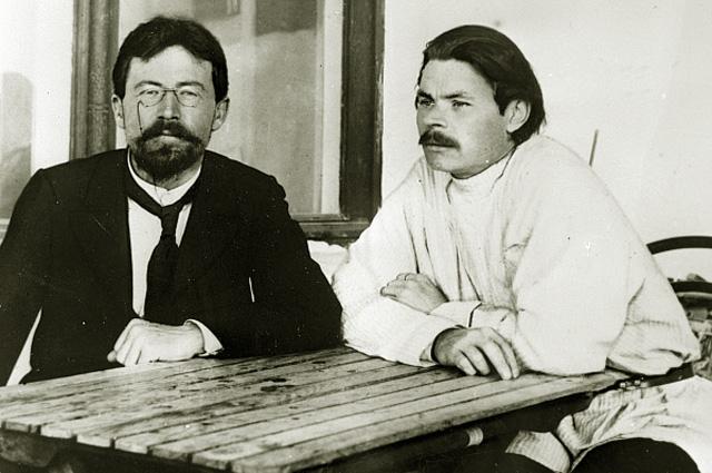 Антон Чехов и Максим Горький в Ялте. 1900 год
