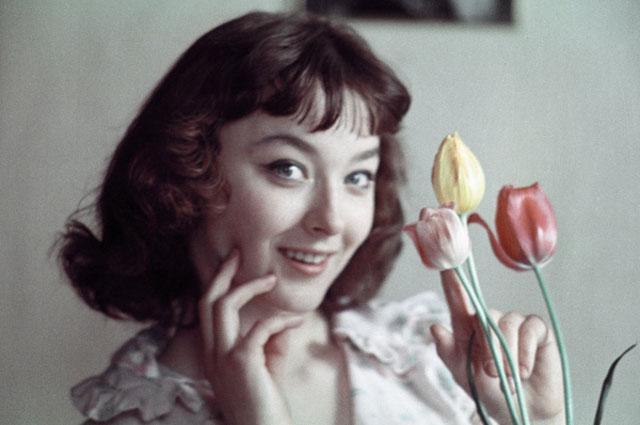 Актриса Анастасия Вертинская. 1962 год