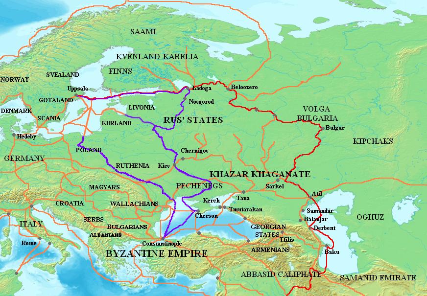 Торговые пути VIII XI вв