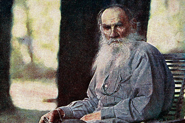 Лев Толстой, фото С.М. Прокудина-Горского, 1908 г.