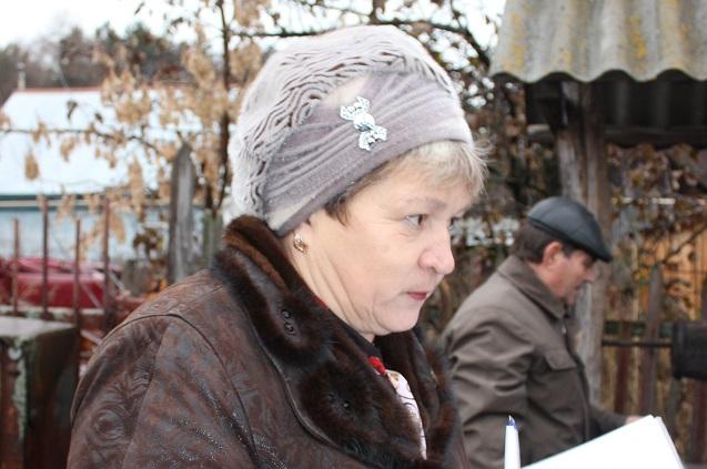 Председатель уличного комитета Вера Жилина
