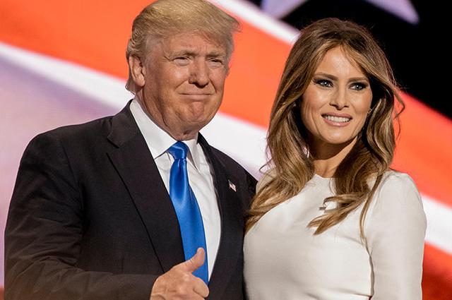Дональд Трамп с супругой Меланьей.
