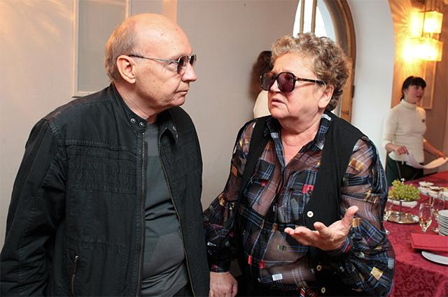 Народные артисты РФ Андрей Мягков и его супруга Анастасия Вознесенская. 2008 г.