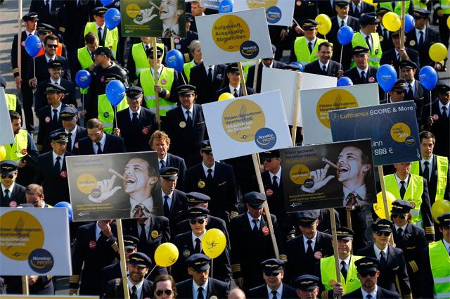 Забастовка пилотов авиакомпании Lufthansa