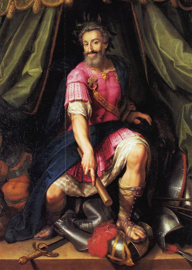Генрих IV — победитель Лиги в виде Марса. художник Жакоб Бюнель.