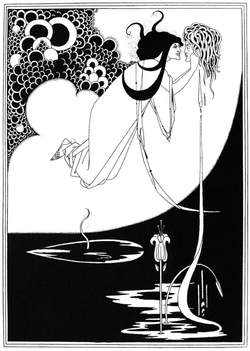 обри бердслей, иллюстрация к саломее