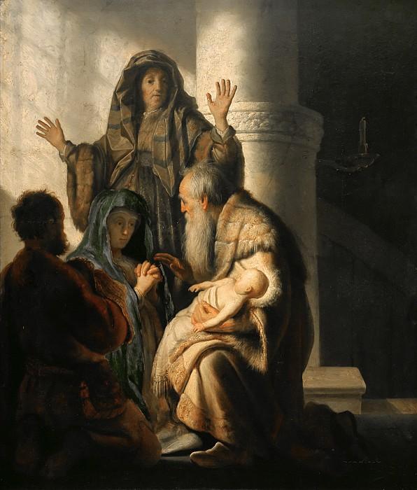 Рембрандт Харменс ван Рейн. Анна и Симеон в храме.