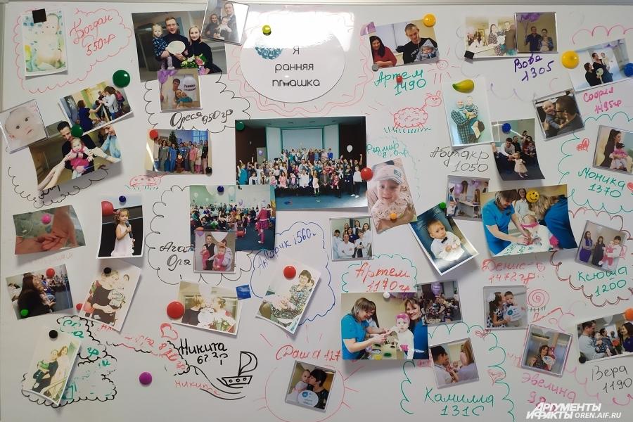 Фотографии подросших малышей врачи меняют каждый год.