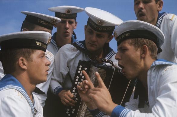 Матросы Черноморского флота. 1974 г