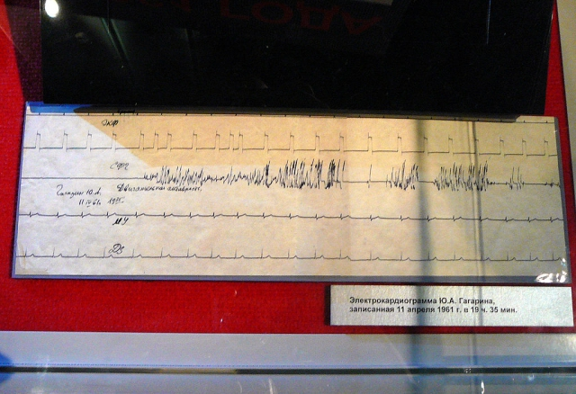 Кардиограмма Гагарина за день до полета.