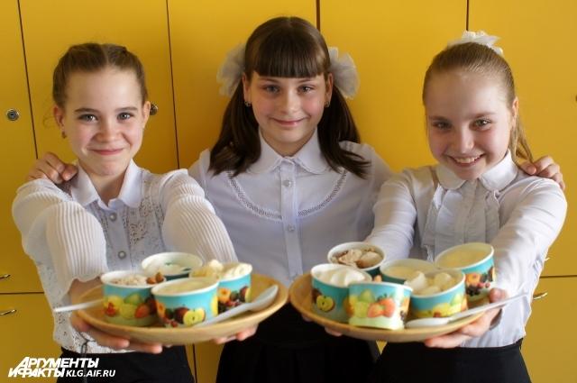 Четвероклассницы изобрели новые рецепты мороженого.