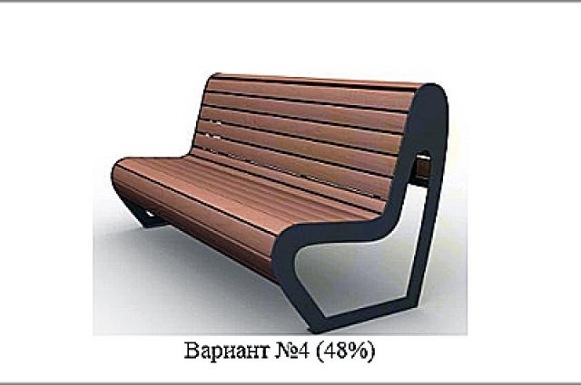Самый популярный вариант уличных скамеек.