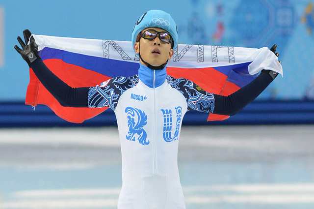 Конькобежец Виктор Ан