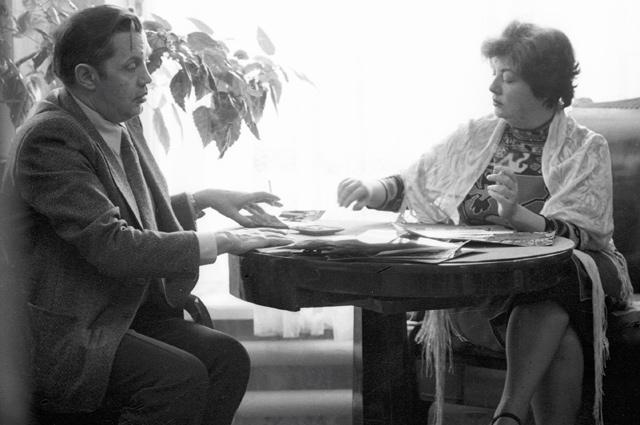Роберт Рождественский с женой Аллой Киреевой.