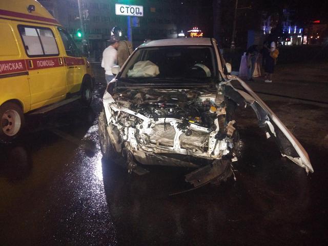 ДТП произошло ночью в центре Перми.