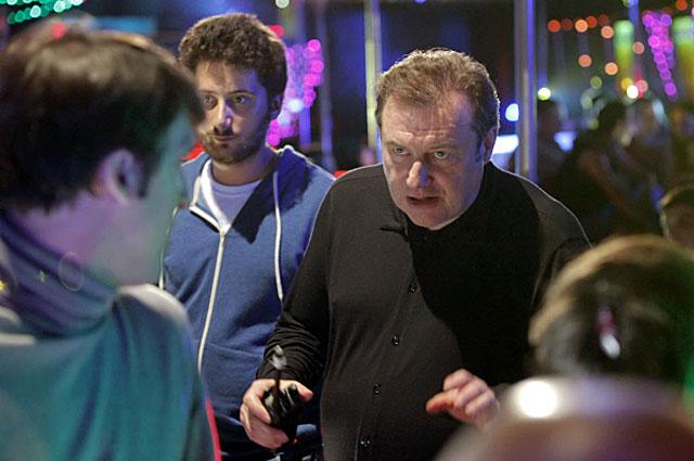 Алексей Учитель во время съёмок фильма Восьмёрка . 2012 год