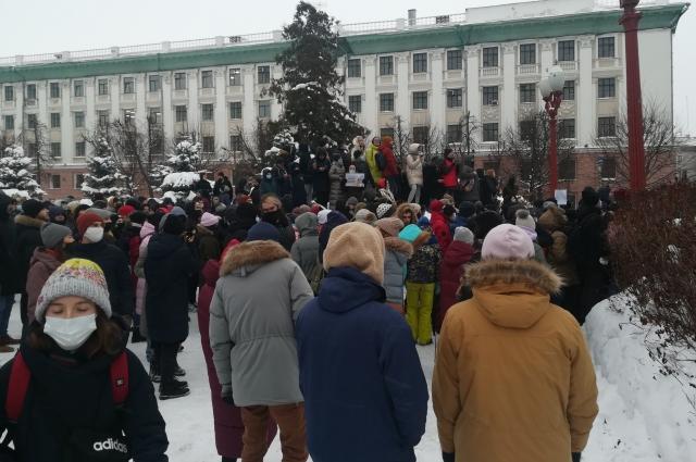 Митинг в Казани.