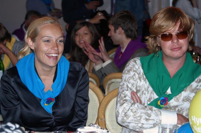 Солист группы Иванушки International Андрей Григорьев Апполонов с женой Марией