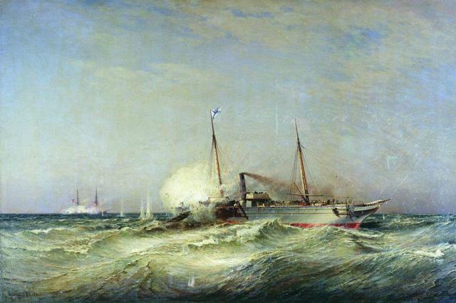 Боголюбов, А. П., Бой парохода «Веста» с турецким броненосцем «Фетхи-Бутленд» в Чёрном море 11 июля 1877 года.