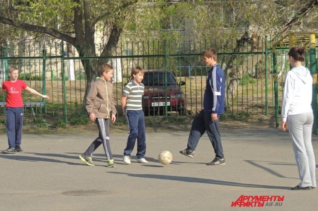 В футбол с учителем
