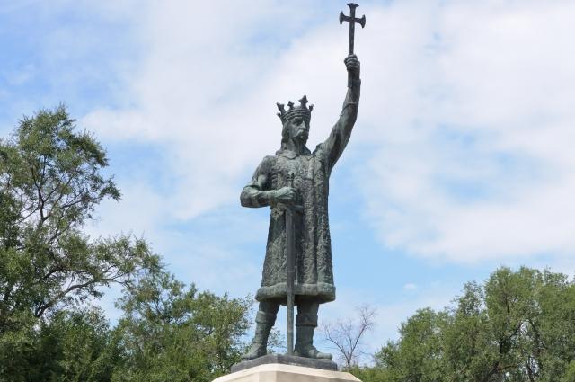 Памятник Стефану III Великому в Кишинёве, 1928 год