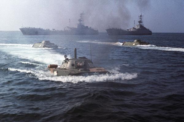 Морской десант Черноморского флота СССР. 1977 г
