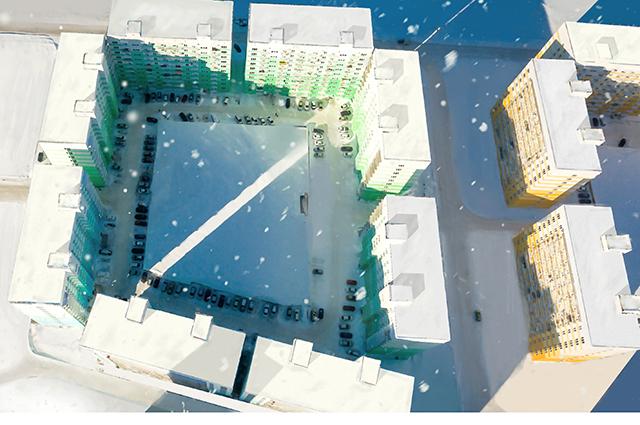 В «Просторном» сформировано несколько замкнутых дворов с габаритами 100 на 100 метров