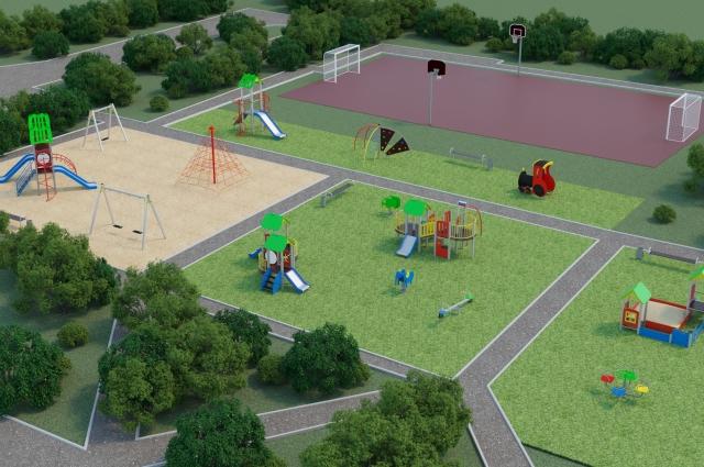 Жители домов по Карбышева, 74 и Ушакова,83 выбрали для себя обустройство большой спортивной площадки для занятий футболом и баскетболом.