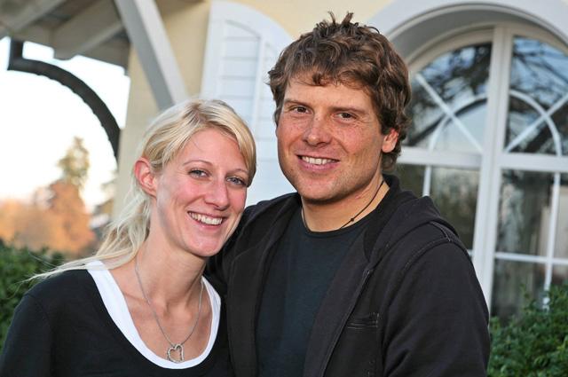 Ян Ульрих с супругой Сарой. 2006 г.