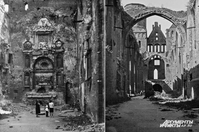 В таком виде находился Кафедральный собор в 1975 году.