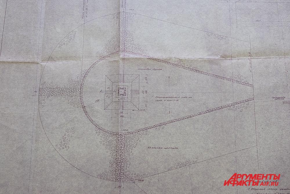 План верхнего маяка 1954 года постройки.