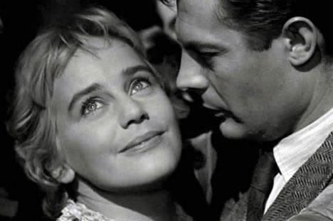Мария Шелл и Марчелло Мастроянни в фильме Белые ночи, 1957