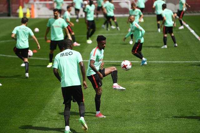 Тренировка сборной Португалии.