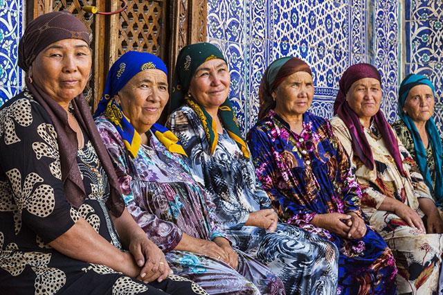 Узбекские женщины.