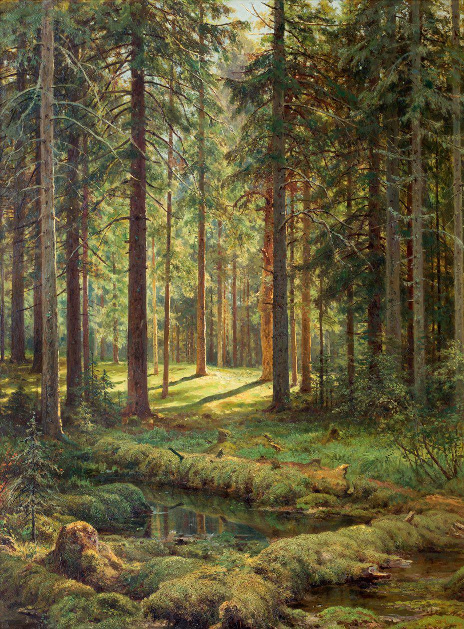 Иван Шишкин. Хвойный лес. Солнечный день.
