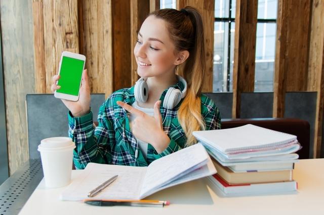 Гаджеты используют ученики в средних и старших классах.