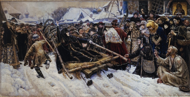 Огромное полотно размером 304 на 586 см является одним из основных экспонатов Третьяковской галереи.