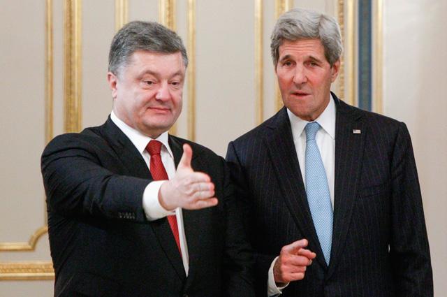 Пётр Порошенко и Джон Керри