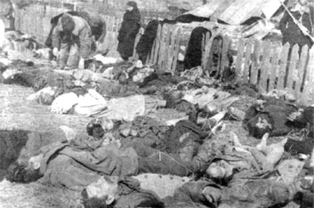 Убитые в результате действий УПА-ОУН(б) жители села Липники (ныне не существующего), под городом Березно, ныне Ровненская область, 1943 год.