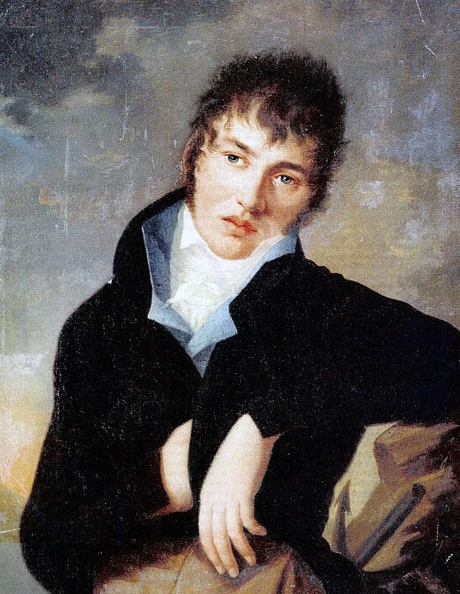 Федор Толстой в молодости.